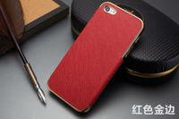 Чехол-накладка на Apple iPhone 4/4S, пластик, кожа, красн/зол
