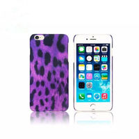Чехол-накладка на Apple iPhone 6/6S, пластик, leopard, фиолетовый
