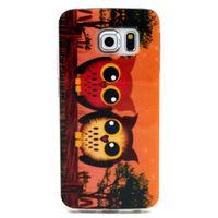 Чехол-накладка на Samsung S6 Edge силикон, owls