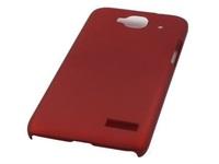 Чехол-накладка для Alcatel Idol Mini (OT-6012) пластик, бордовый