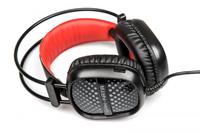 Гарнитура проводная, 3,5мм, игровая, Dialog HGK-20L Gan-Kata, полноразмерная, черный, красный