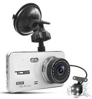 """Видеорегистратор с камерой заднего вида TDS-CAR24, FHD, IPS 4.0"""""""