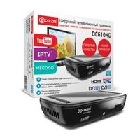 ТВ ресивер, цифровой DVB-T2, D-Color DC610HD, HDMI, RCA, HD плеер