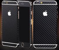 Наклейка на Apple iPhone 5/5S, карбон, черный