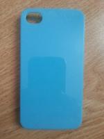 Чехол-накладка на Apple iPhone 4/4S, пластик, глянцевый, голубой