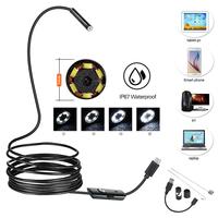Камера эндоскоп microUSB/USB, Орбита OT-SME01, 8мм, 2м, 640*480, IP67, жесткий, с подсветкой