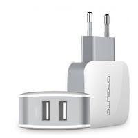Сетевое зарядное устройство USB, Орбита OT-AD07, 2.4A, 2xUSB, белый