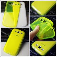 Чехол-накладка на Samsung S3 силикон, желтый