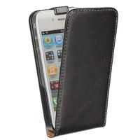 Флип-кейс на Apple iPhone 4/4S, кожа, магнитный, черный