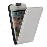 Флип-кейс на Apple iPhone 4/4S, кожа, магнитный, белый
