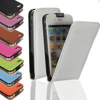 Флип-кейс на Apple iPhone 4/4S, кожа, магнитный, коричневый