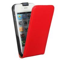 Флип-кейс на Apple iPhone 4/4S, кожа, магнитный, красный