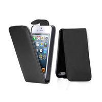 Флип-кейс на Apple iPhone 5/5S, кожа, магнитный с язычком, черный