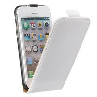 Флип-кейс на Apple iPhone 5/5S, кожа, магнитный с язычком, белый