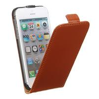 Флип-кейс на Apple iPhone 5/5S, кожа, магнитный с язычком, коричневый