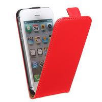 Флип-кейс на Apple iPhone 5/5S, кожа, магнитный с язычком, красный
