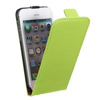 Флип-кейс на Apple iPhone 5/5S, кожа, магнитный с язычком, зеленый