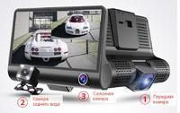 """Видеорегистратор с камерой заднего вида E-ACE, FHD, 5.0"""", + салонная камера (УЦЕНКА: полосы на диспл"""