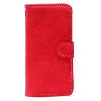 Чехол-книжка на Apple iPhone 4/4S, полиуретан, магнитный с язычком, красный