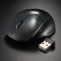 Мышь беспроводная, Noname, оптическая, 3кн, мини, глянцевая, черный