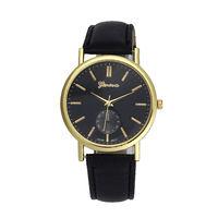 Часы наручные Geneva, ц.черный, р.черный, кожа Д02327