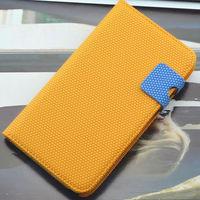 Чехол-книжка на Apple iPhone 4/4S, полиуретан, магнитный с язычком, оранжевый