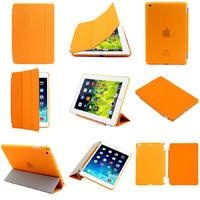Чехол Smart-cover для Apple Ipad Air, полиуретан, разборный, оранжевый