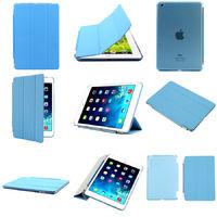 Чехол Smart-cover для Apple Ipad Air, полиуретан, разборный, голубой
