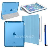 Чехол Smart-cover для Apple iPad 2/3/4, полиуретан, пластик, голубой