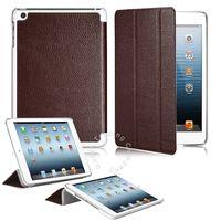 Чехол Smart-cover для Apple iPad mini 1,2,3, полиуретан, текстурированный, коричневый