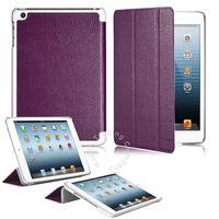 Чехол Smart-cover для Apple iPad mini 1,2,3, полиуретан, рамка, фиолетовый