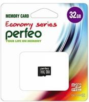 Карта памяти MicroSDHC 32GB Perfeo Economy Series, Class 10 (без SD адаптера)
