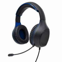 Гарнитура проводная, 3,5мм, игровая, Perfeo ACTION (PF_A4478), полноразмерная, черный, синий