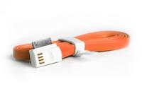 Кабель для iPhone 4/4S, iPad 2,3, iPod, Smartbuy (iK-412m), магнитный, плоский, оранжевый, 1.2м