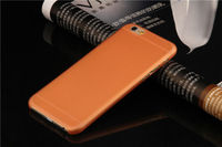 Чехол-накладка на Apple iPhone 6/6S, пластик, матовый, оранжевый