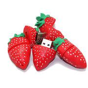 Память USB 2.0 Flash, клубника, красный, 8 Gb