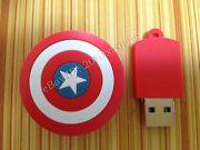 Память USB 2.0 Flash, щит чел америки, красный, 8 Gb