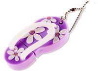 Память USB 2.0 Flash, тапочек, фиолетовый, 4 Gb
