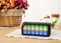 Портативная колонка, X3S, Bluetooth, USB, FM, AUX, microSD, подсветка, черный