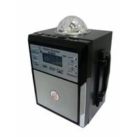 Портативная колонка, Орбита MS-08, microSD, USB, FM, BL-5C, светомузыка, пульт, черный