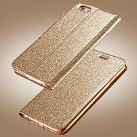 Чехол-книжка на Apple iPhone 5/5S, полиуретан, золотистый