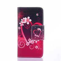 Чехол-книжка на Samsung A3 кожа, цветы
