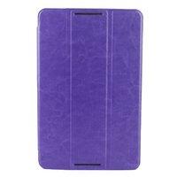 Чехол Smart-cover для Lenovo A5500 кожа, черно-фиолетовый