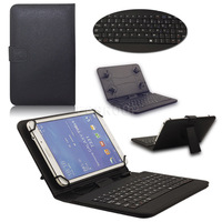 Универсальный чехол-клавиатура, 7-8'', micro-USB, кожа, черный