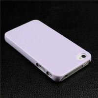Чехол-накладка на Apple iPhone 4/4S, пластик, глянцевый, лиловый