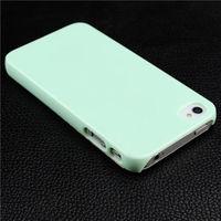 Чехол-накладка на Apple iPhone 4/4S, пластик, глянцевый, бледно-зеленый