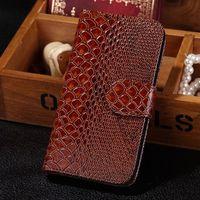 Чехол-книжка на Samsung S4 кожа, рептилия, коричневый
