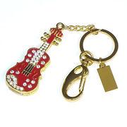 Память USB 2.0 Flash, брелок-скрипка, красный, 8 Gb