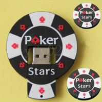 Память USB 2.0 Flash, покер, черная, 8 Gb