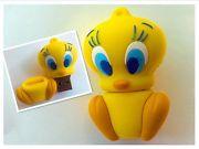 Память USB 2.0 Flash, цыпленок, желтый, 8 Gb